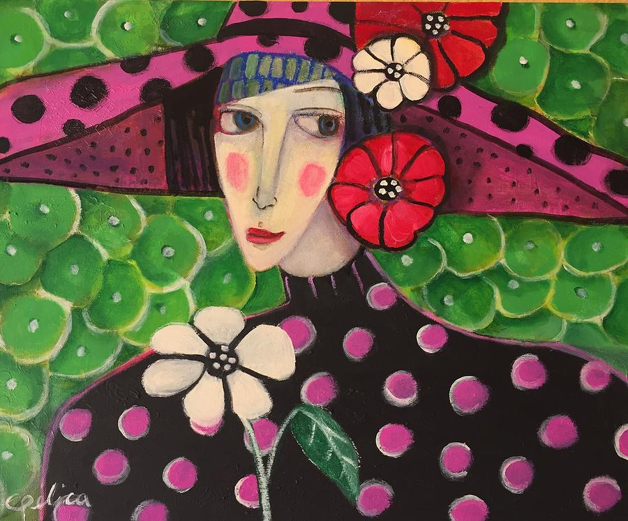 Figurative Painting - Alice by Angelica Samame