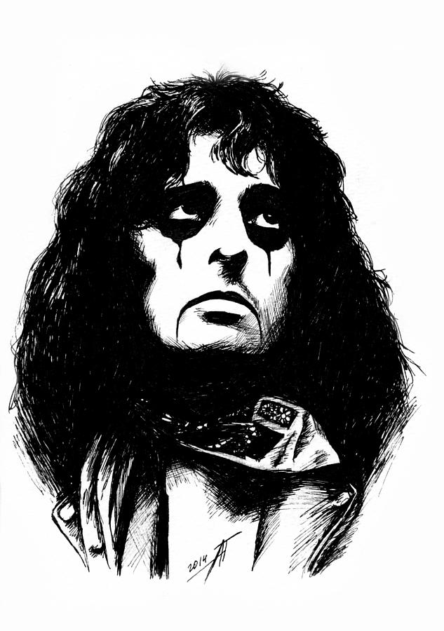alice cooper drawing by anastasium