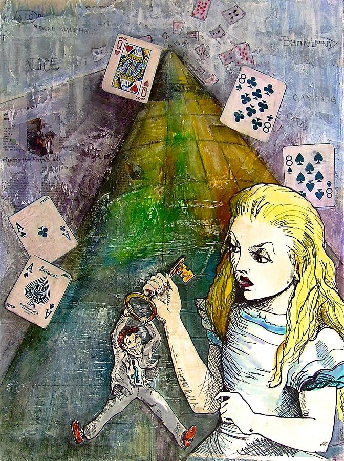 Alice Mixed Media - Alice In Bankland by Christine Rossi