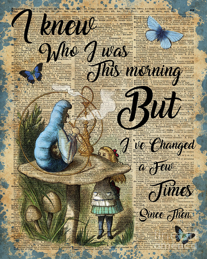 Alice In Wonderland Book Quotes: Alice In Wonderland Quote Vintage Dictionary Art Digital