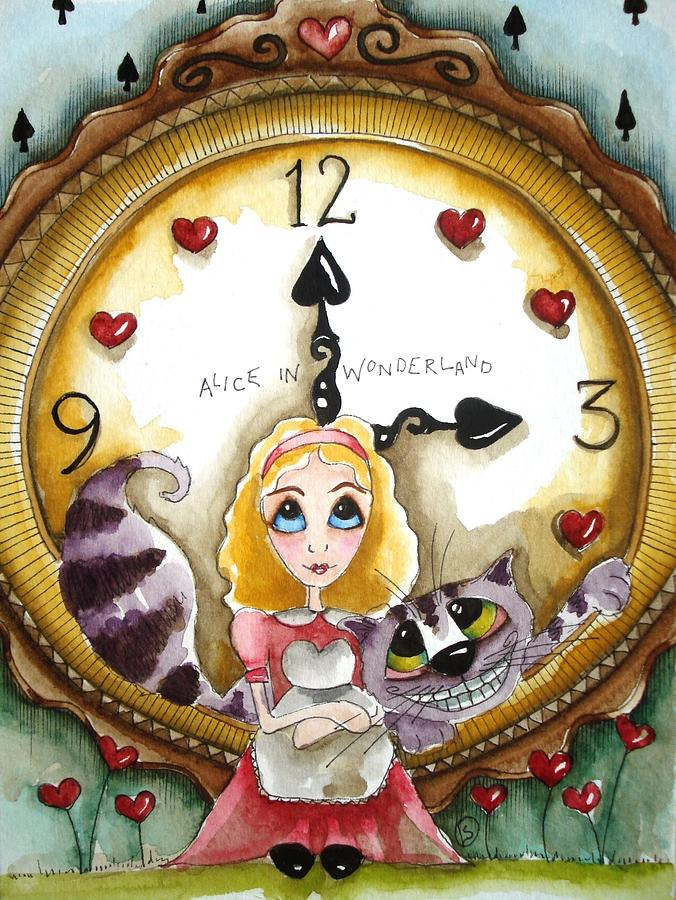Alice In Wonderland Tick Tock Painting By Lucia Stewart