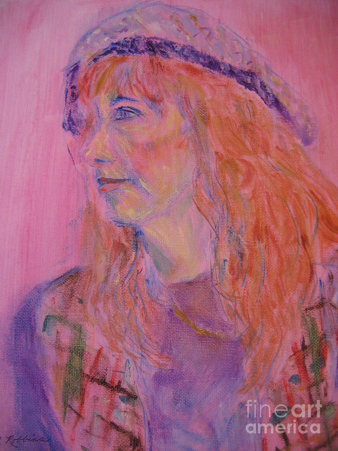 Woman Painting - Alice by Marlene Robbins