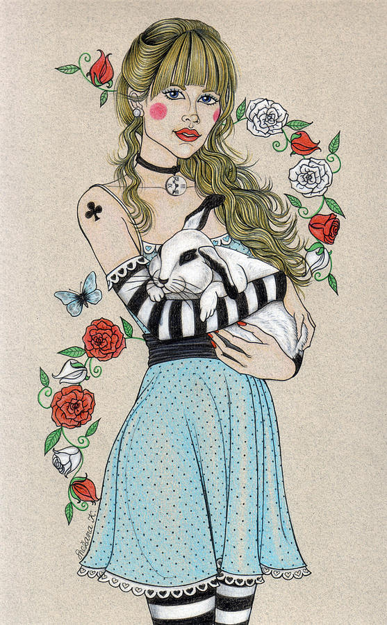 Alice In Wonderland Drawing - Alice by Snezana Kragulj