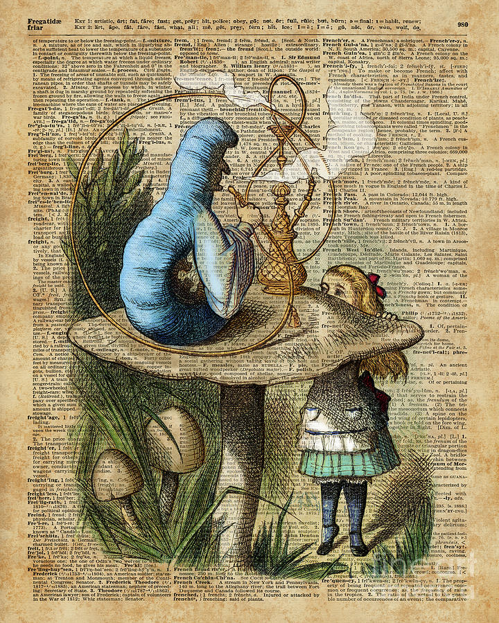 Alicemushroom And Jinvintage Dictionary Art Digital Art By Anna W