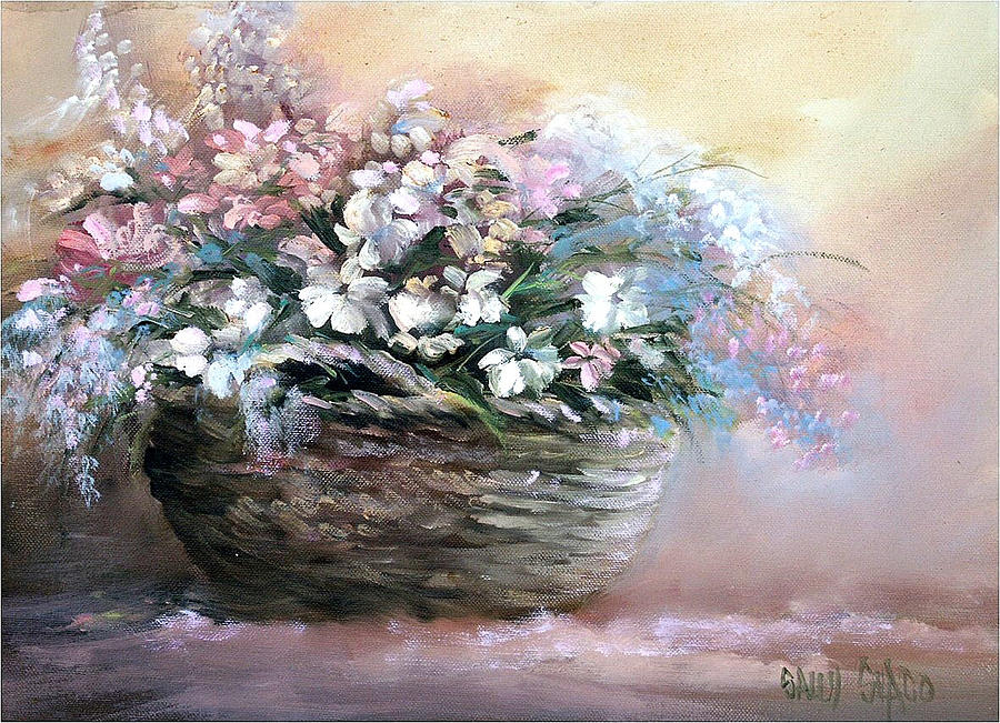 Flower Bouquet Painting - Alices Bouquet by Sally Seago