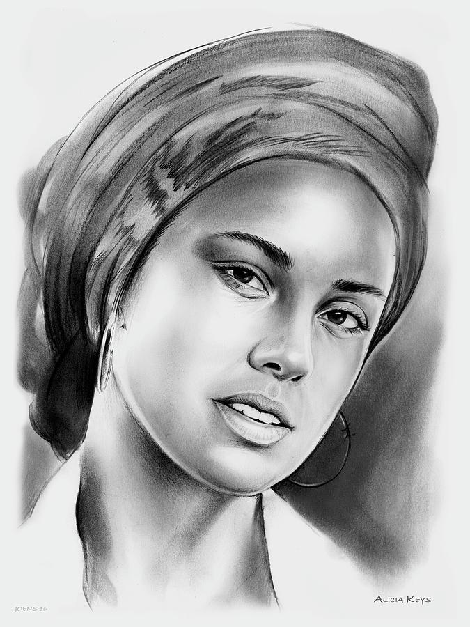 Alicia Keys 2 Drawing