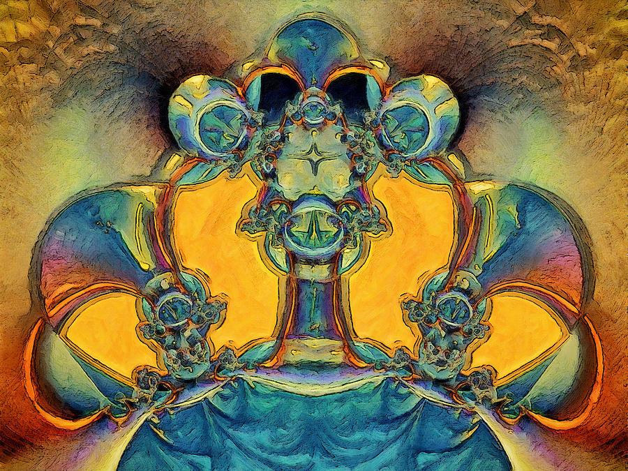 Fractals Digital Art - Alien by Alexandru Bucovineanu