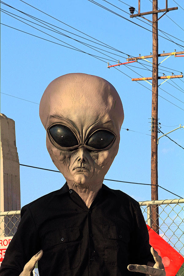 Photograph Photograph - Alien Face At 6th Street Bridge by Viktor Savchenko