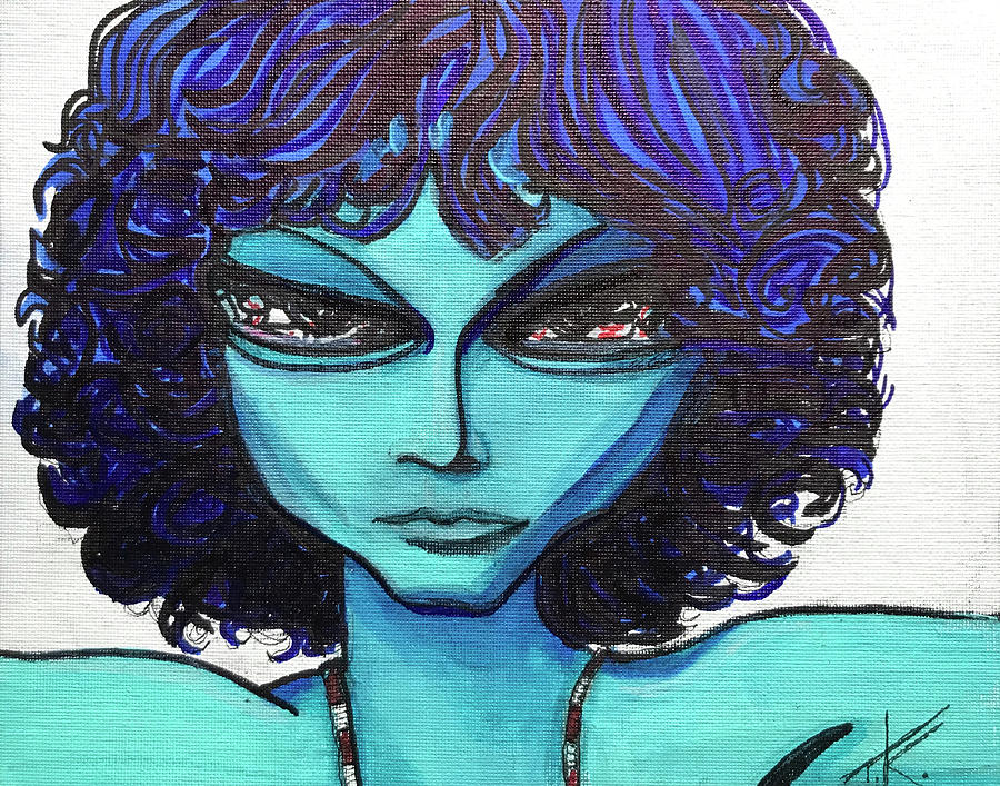 Alien Jim Morrison by Similar Alien