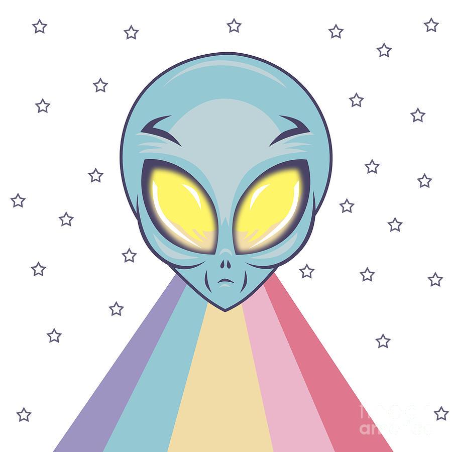 Alien Digital Art - Alien  by Mark Ashkenazi