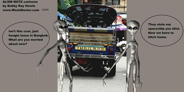 Alien Nutz 1 Mixed Media by Robert aka Bobby Ray Howle