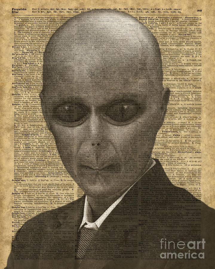 Alien Photograph - Alien Over Dictionary Page by Anna W