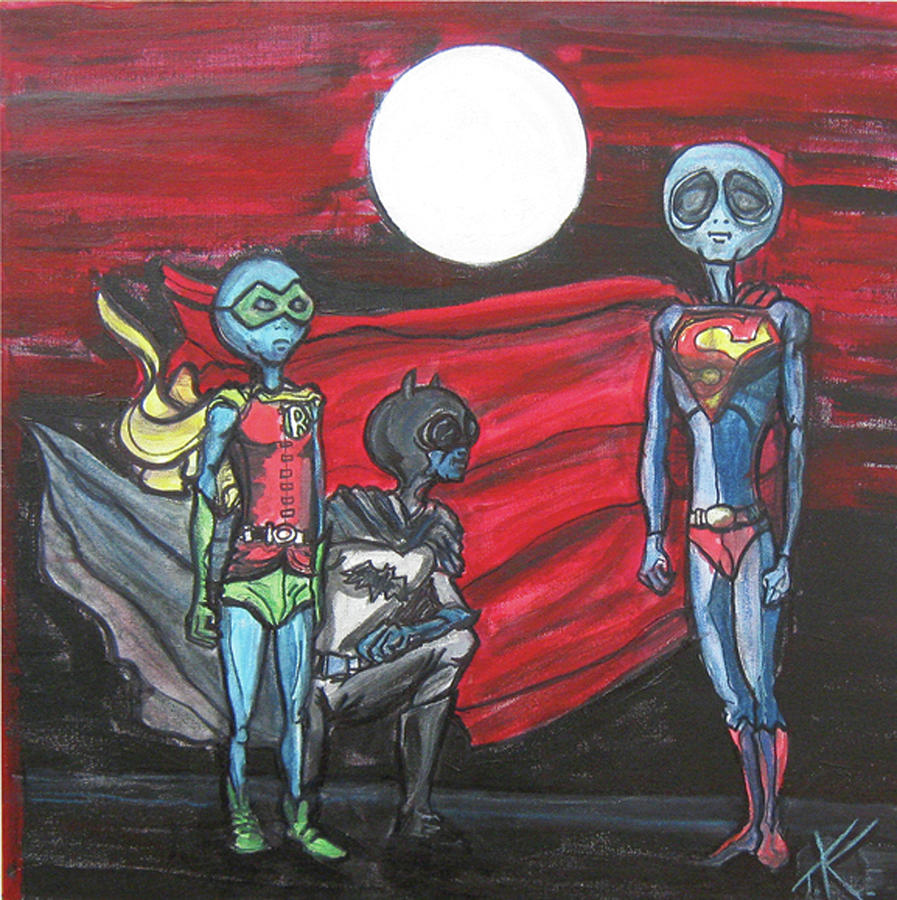 alien superheros by Similar Alien