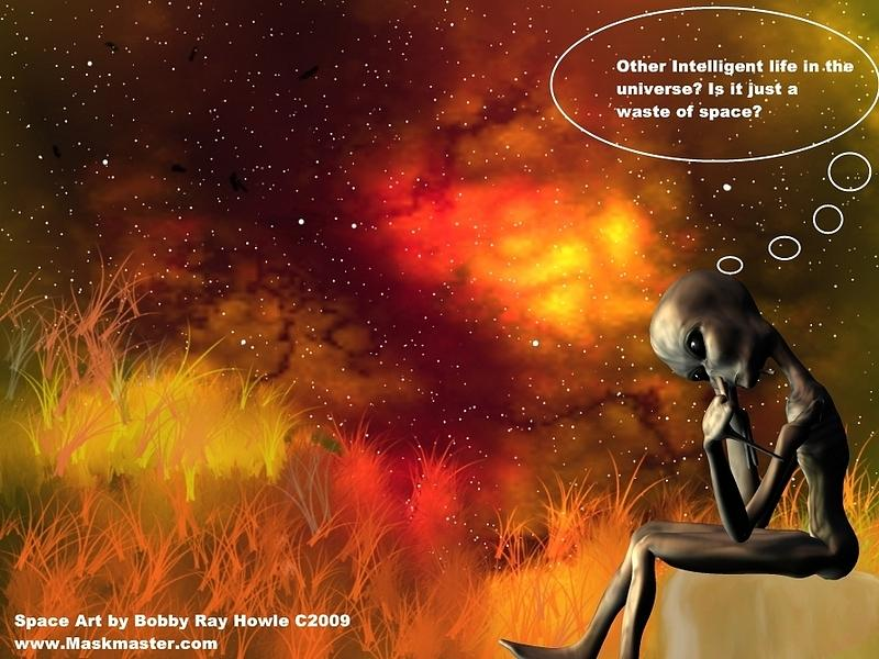 Alien Thinker Digital Art by Robert aka Bobby Ray Howle