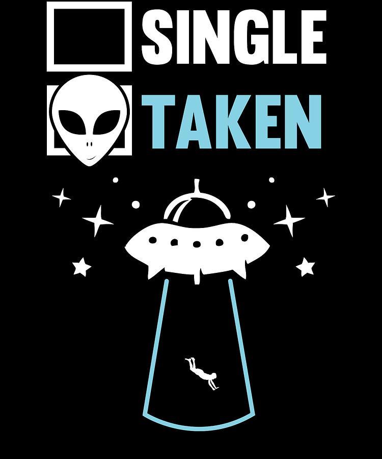 Abduct Digital Art - Alien Ufo Single Gift by Michael S