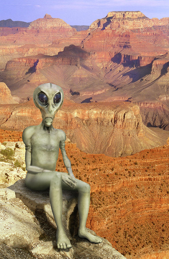 Grand Canyon Photograph - Alien Vacation - Grand Canyon by Mike McGlothlen