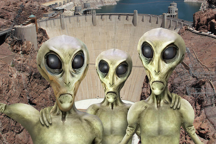 Hoover Dam Photograph - Alien Vacation - Hoover Dam by Mike McGlothlen