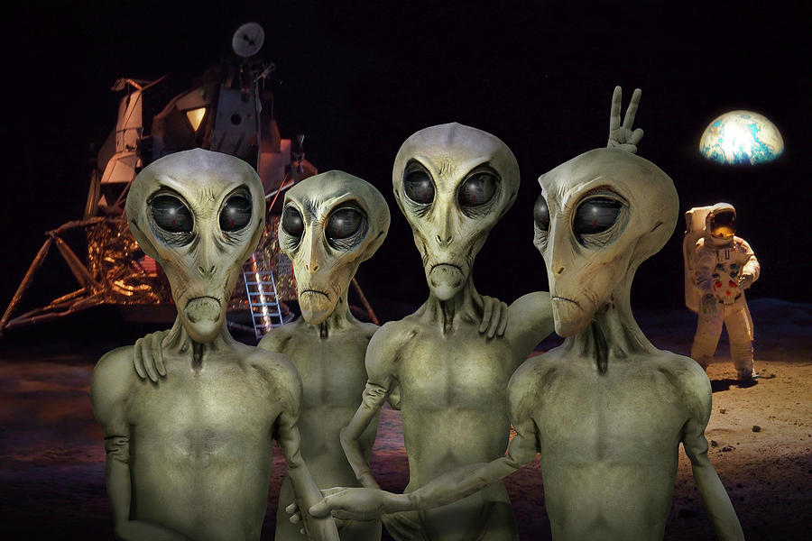 Cape Canaveral Photograph - Alien Vacation - Kennedy Space Center by Mike McGlothlen