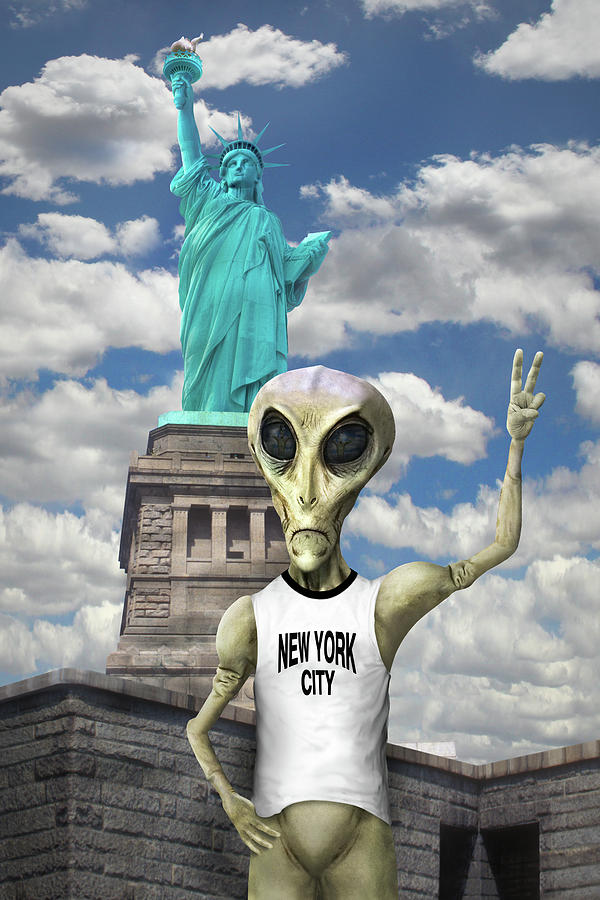 Surrealism Photograph - Alien Vacation - New York City by Mike McGlothlen