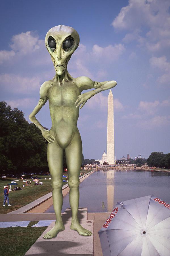 Aliens Photograph - Alien Vacation - Washington D C by Mike McGlothlen