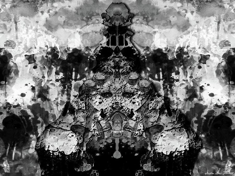 Alien Digital Art - Aliena - Monochromatic by Iowan Stone-Flowers
