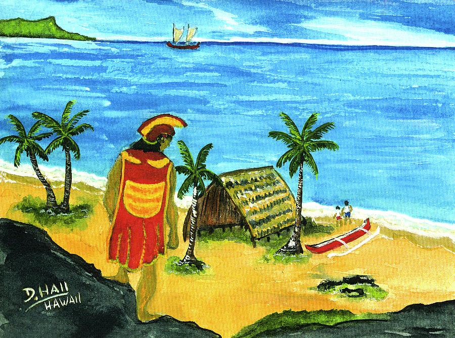 Hawaii Painting - Alihi Hawaiian For Chief #57 by Donald k Hall