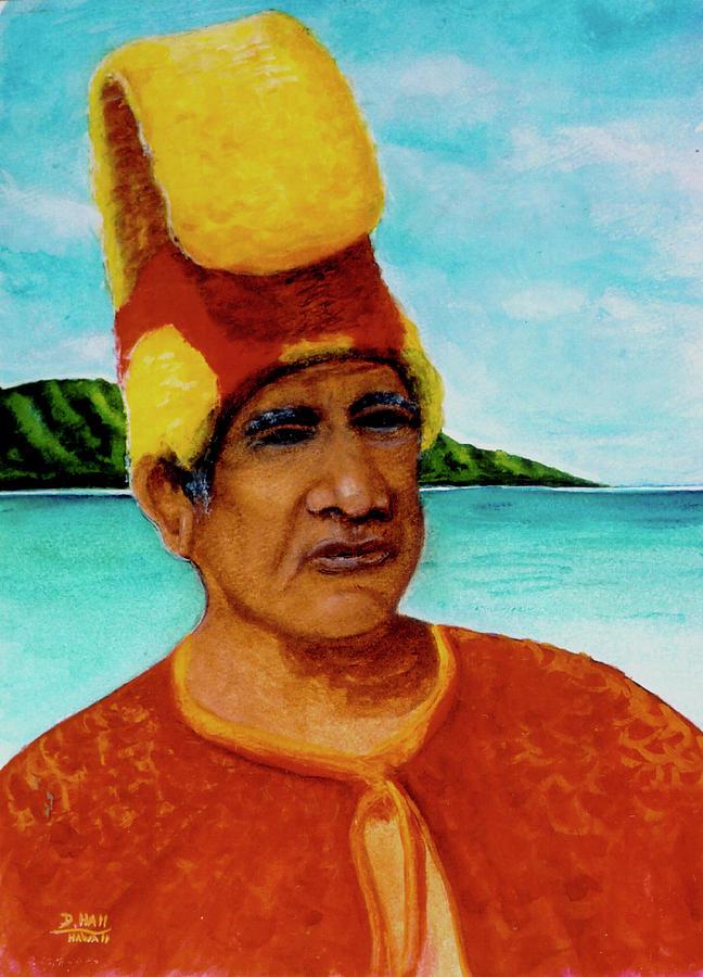 Hawaiiana Painting - Alihi Hawaiian Name For Chief #295 by Donald k Hall