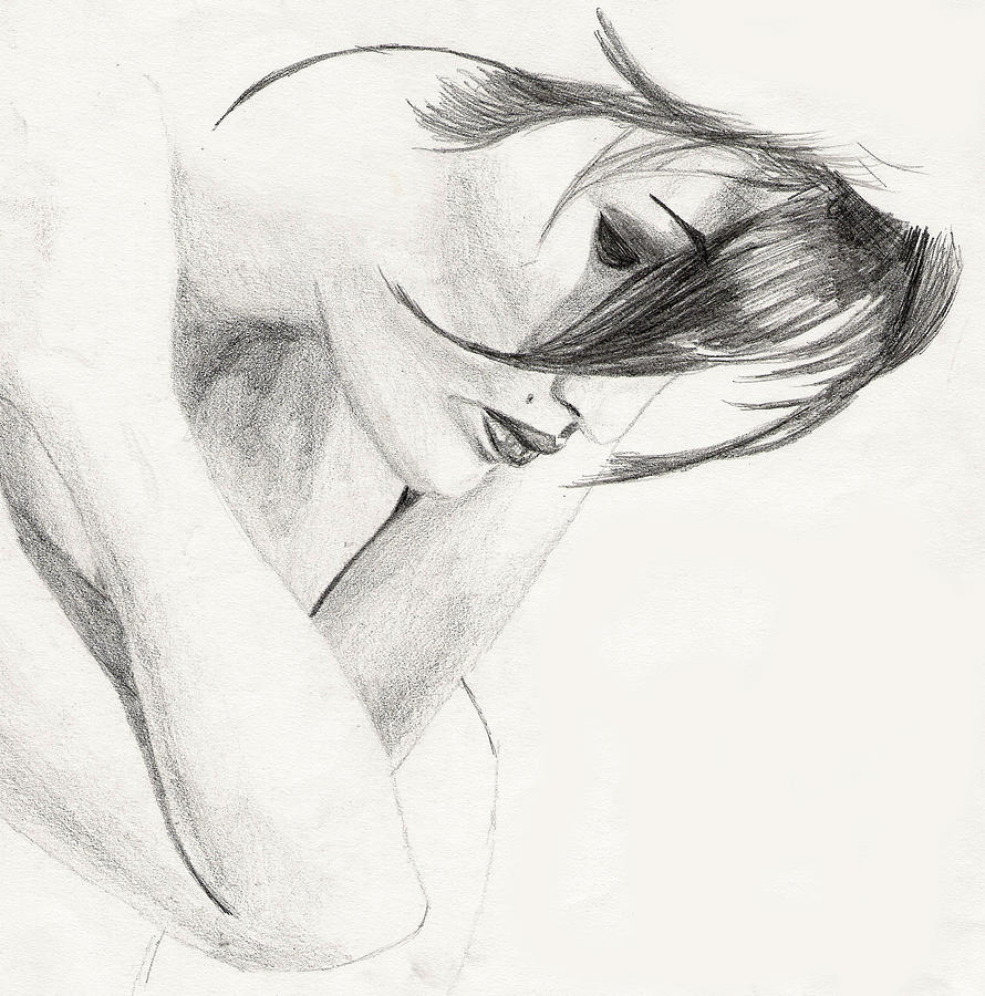 Nude Drawing Drawing - Alison by Michael McKenzie
