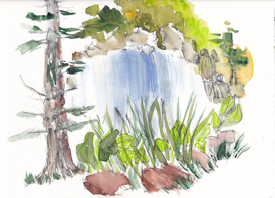 Ijams Nature Center Painting - Alisons Waterfall by B L Qualls