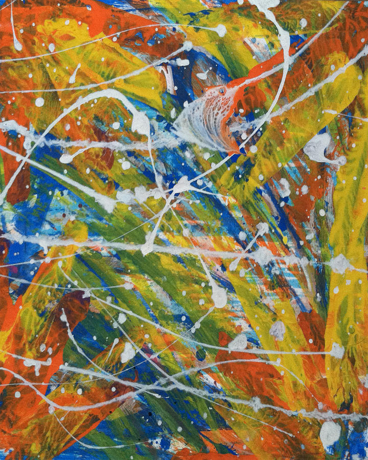 Splatter Painting - Alive by Bethany Stanko