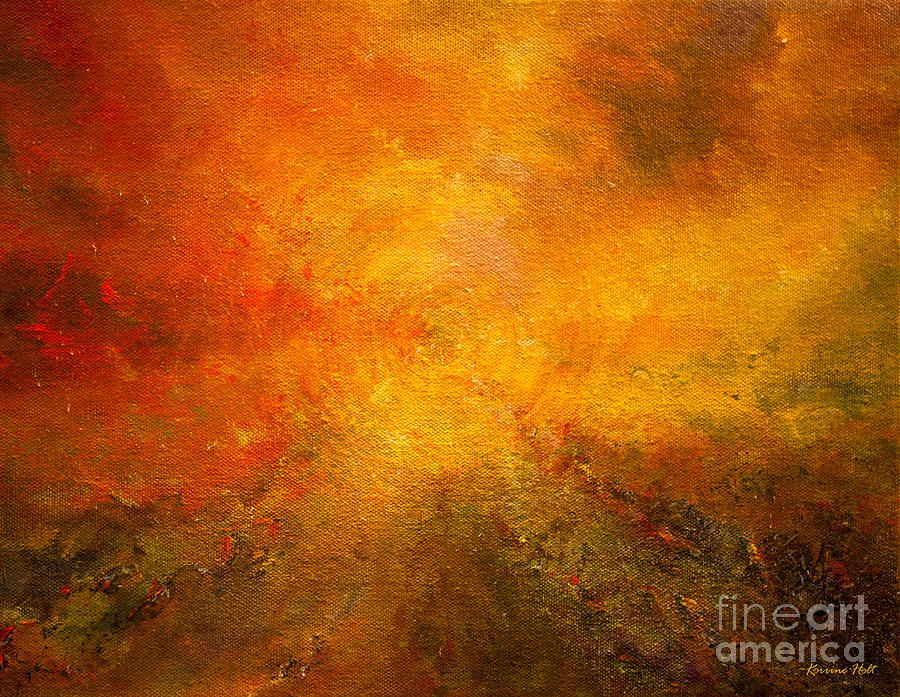 Alive Painting - Fire of Your Heart by Korrine Holt