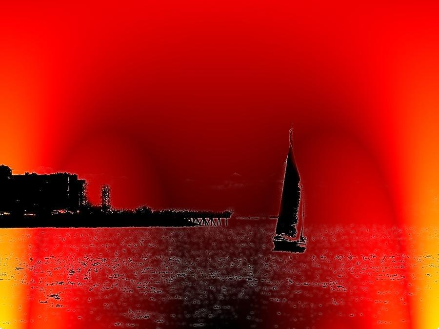 Seattle Photograph - Alki Sail 4 by Tim Allen