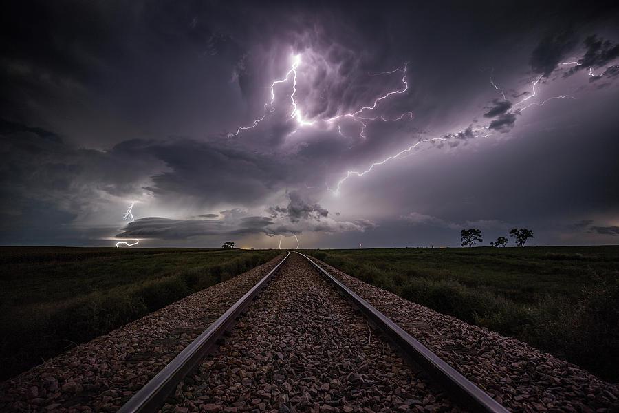 Lightning Photograph - All Aboard  by Aaron J Groen