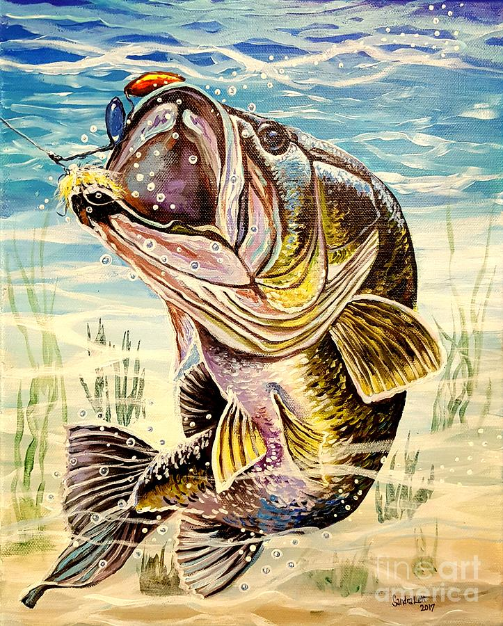 Bass Painting - All About The Bass by Sandra Lett
