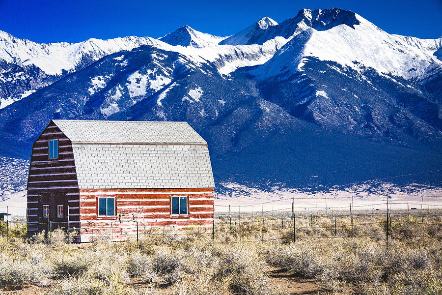 Red Photograph - All American Barn by Penny Miller