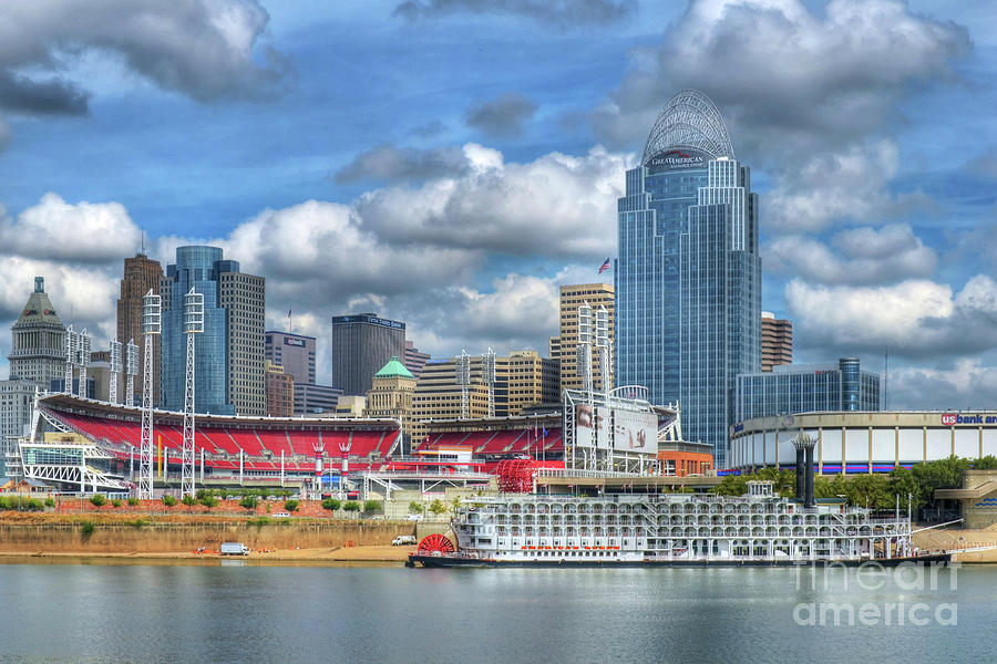 Cincinnati Photograph - All American City by Mel Steinhauer