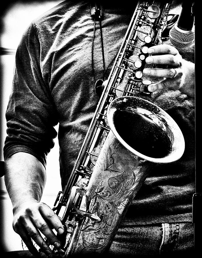 Sax Photograph - All Blues Man With Jazz On The Side by Bob Orsillo