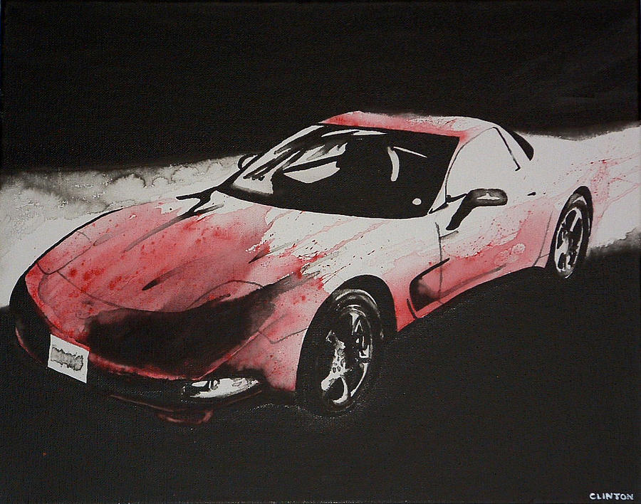 Corvette Painting - All Corvettes Are Red by Robert Clinton