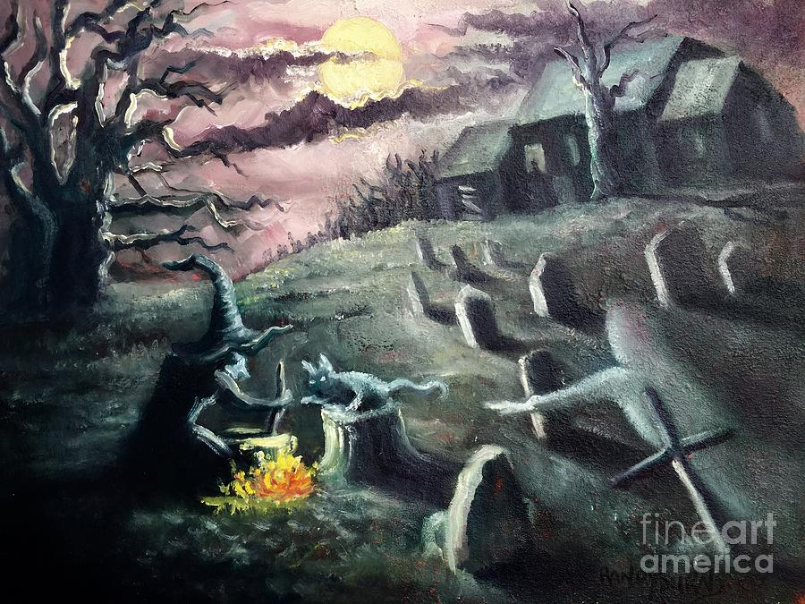 Halloween Painting - All Hallows Eve by Randy Burns