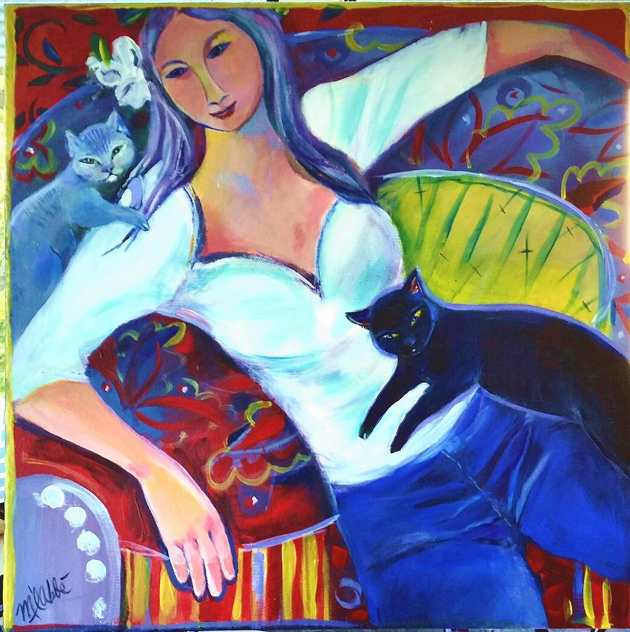 Cats Painting - All In An Afternoon by Marlene LAbbe