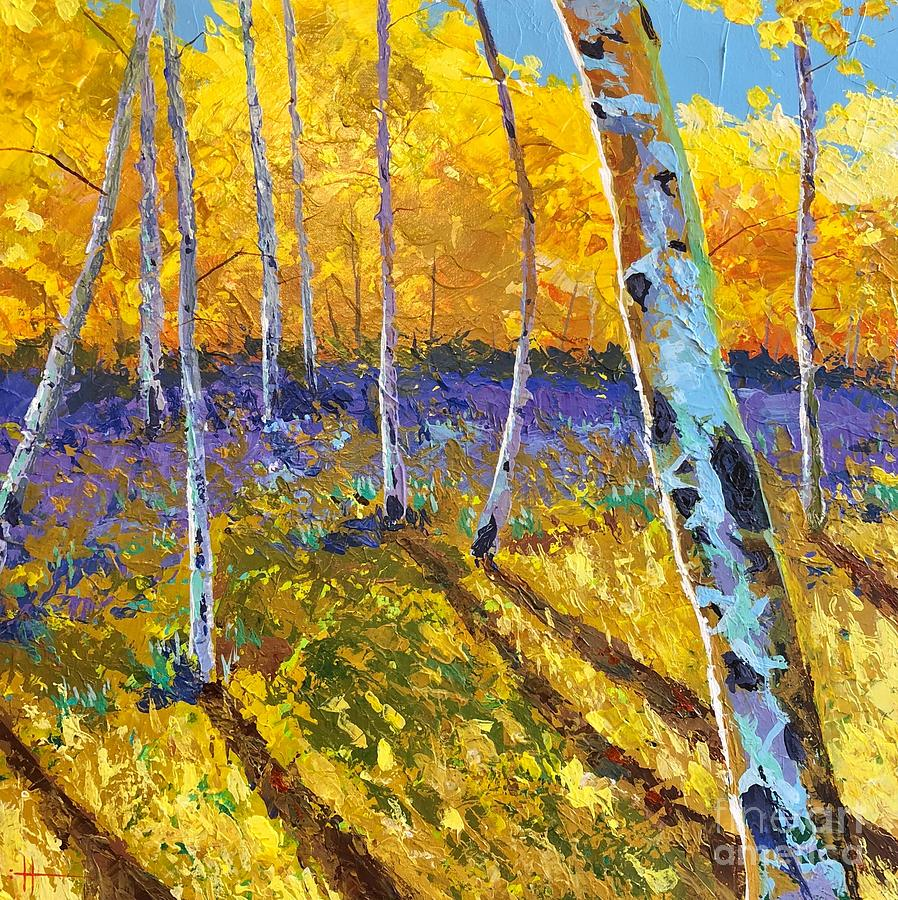Aspen Painting - All In The Golden Afternoon by Hunter Jay