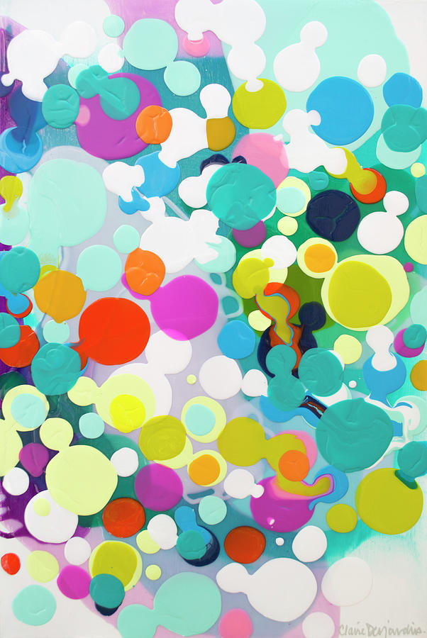 Abstract Painting - All in the Timing by Claire Desjardins