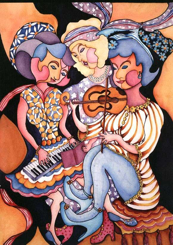 All In Together Girls Painting by Arleen Barton