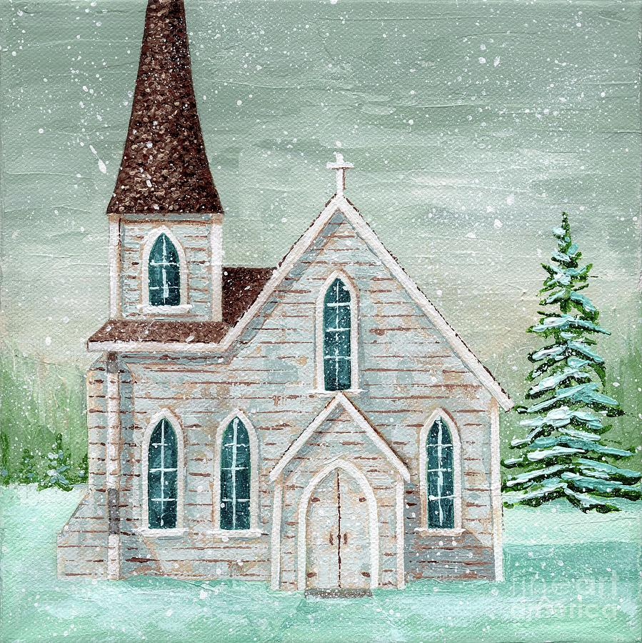 Winter Painting - All is Calm by Annie Troe