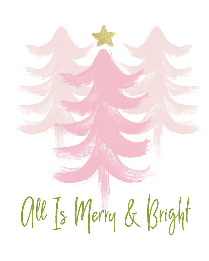 Merry And Bright Mixed Media - All Is Merry And Bright- Art By Linda Woods by Linda Woods