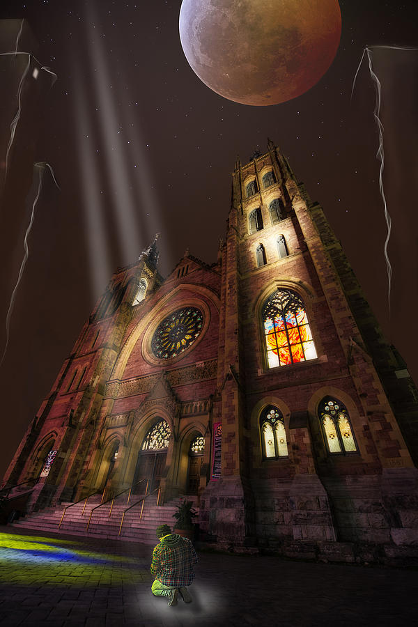 Spiritual Photograph - All Is Real Except The Church by Normand Laporte