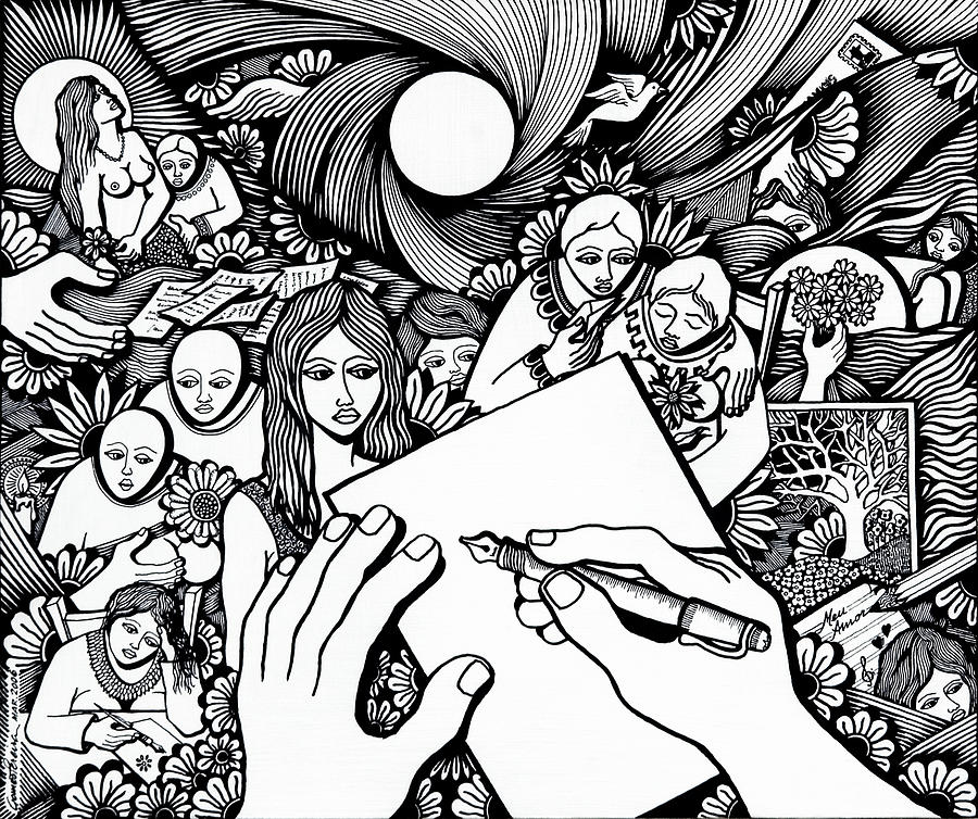 Drawing Drawing - All Love Letters Are Ridiculous by Jose Alberto Gomes Pereira