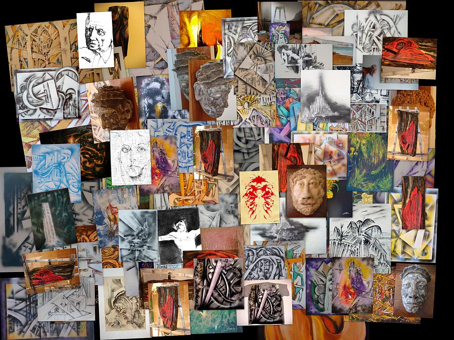 Photographic Photograph - All Of It Collage by Eugene Foltuz