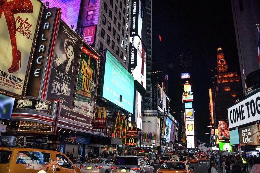 Time Square Photograph - All Of The Lights by Kennard Reeves