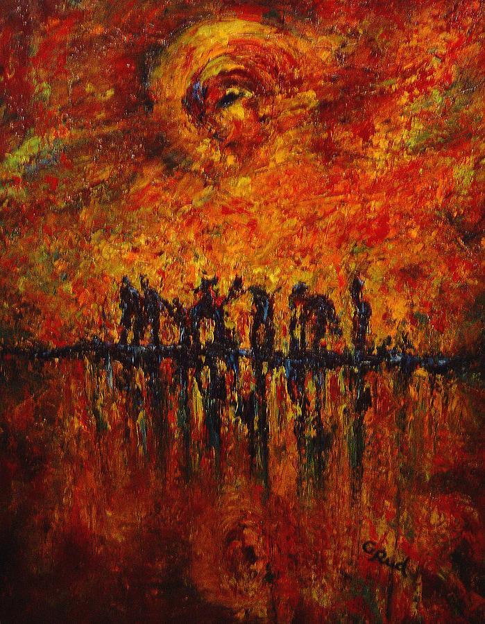 Landscape Painting - All Of Them by David Grudniski